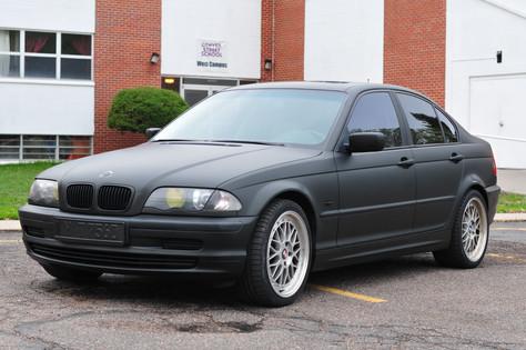 Matte Black BMW Sedan