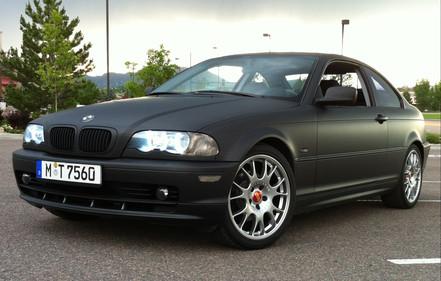 Matte Black BMW 325ci