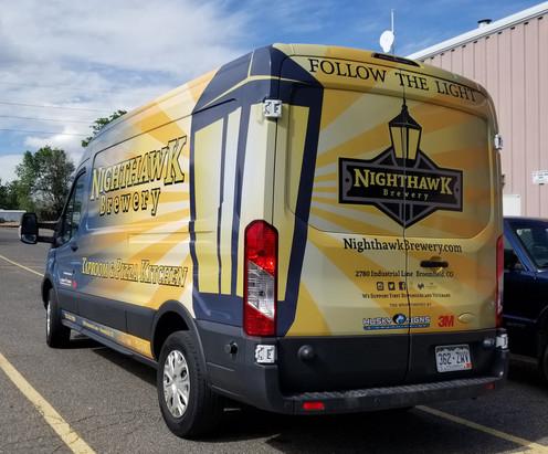 Nighthawk Brewery Reflective Graphics