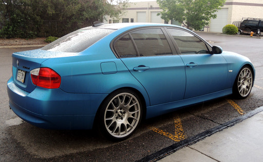 BMW 330xi Matte Blue