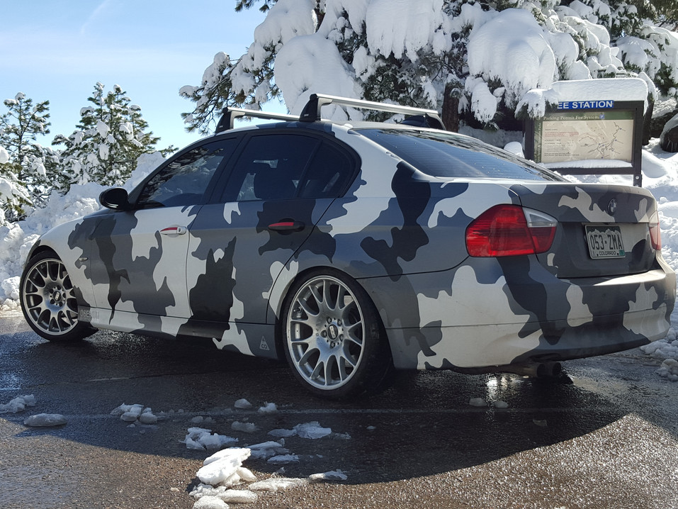 Urban Camo on a BMW Sedan