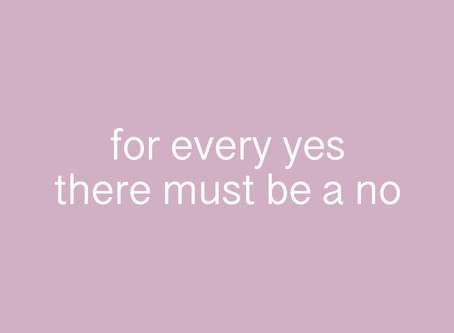 For every yes there must be a no