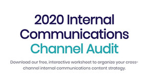 2020 Internal Comms Channel Audit