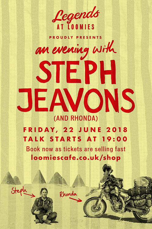 An evening with Steph Jeavons (and Rhonda)! 7pm, Friday 22nd June 2018