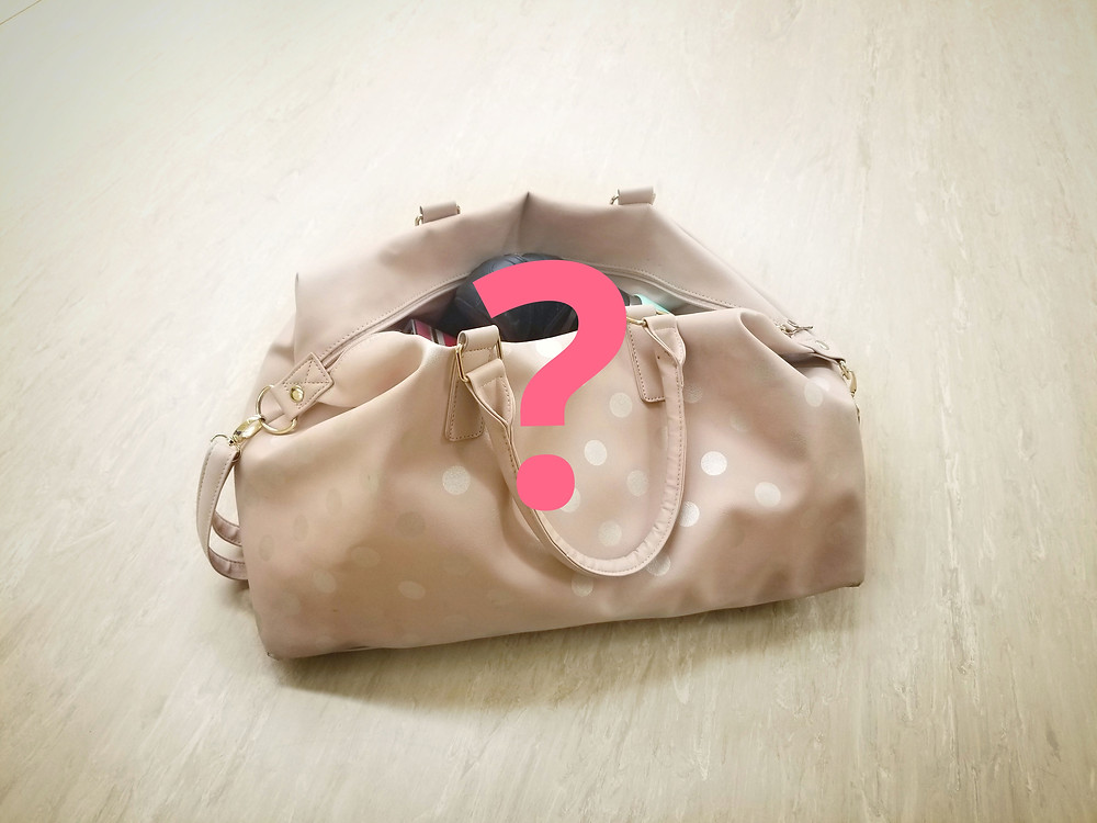 Dance tote bag with pink question mark
