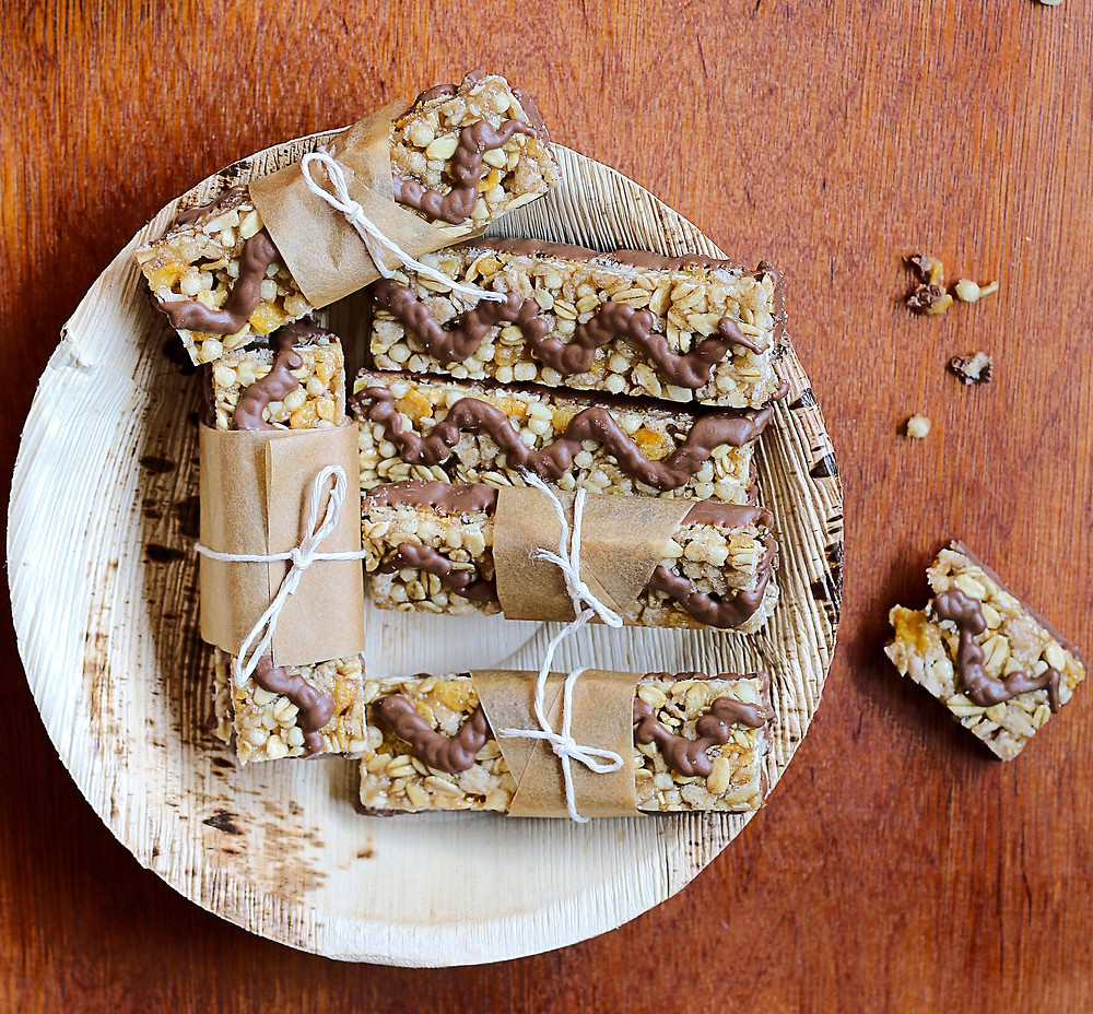 granola bars on a plate