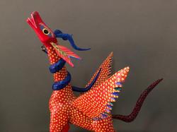 Pegasus winged horse alebrije, red w