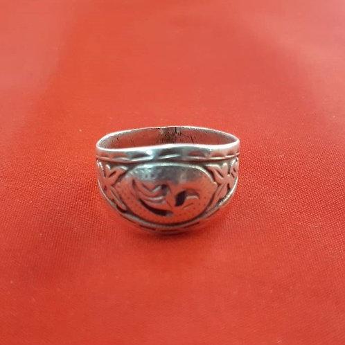 Серебряное кольцо 875 пробы (1.97 гр. / 18 разм.)