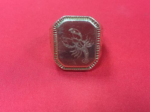 """Кольцо из золота 585 пробы (15.45 гр.) """"Скорпион"""""""