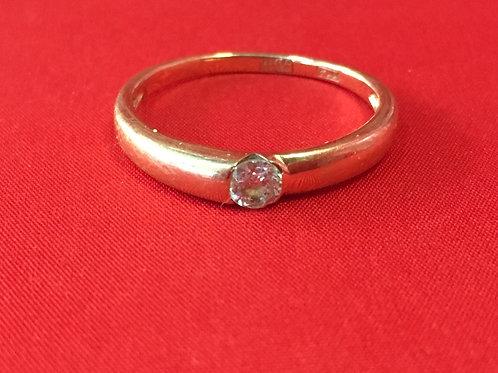 Кольцо золотое 585 пробы с камнем