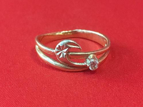 Кольцо золотое 585 пробы c камнем