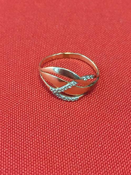 Кольцо золотое 585 пробы с камнями