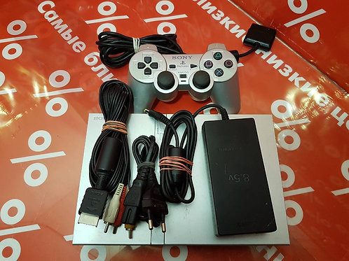Sony PlayStation 2 Slim Silver + игра