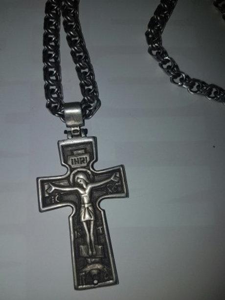 Цепочка с крестом 925 пробы