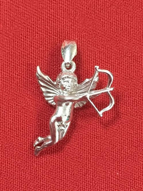 Серебряный кулон Купидон с крыльями и луком (1.97)