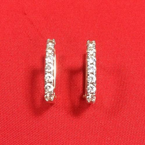 Серьги золотые 585 пробы с камнями