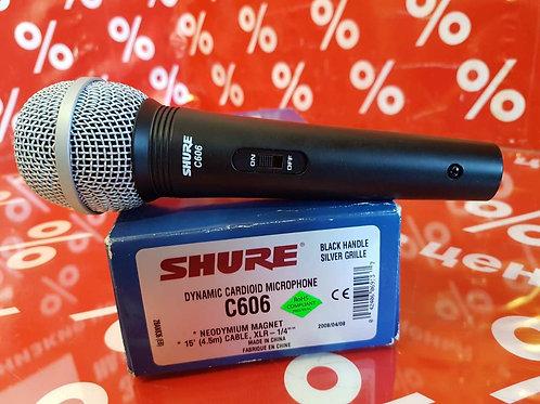 Кардиоидный динамический микрофон Shure C606