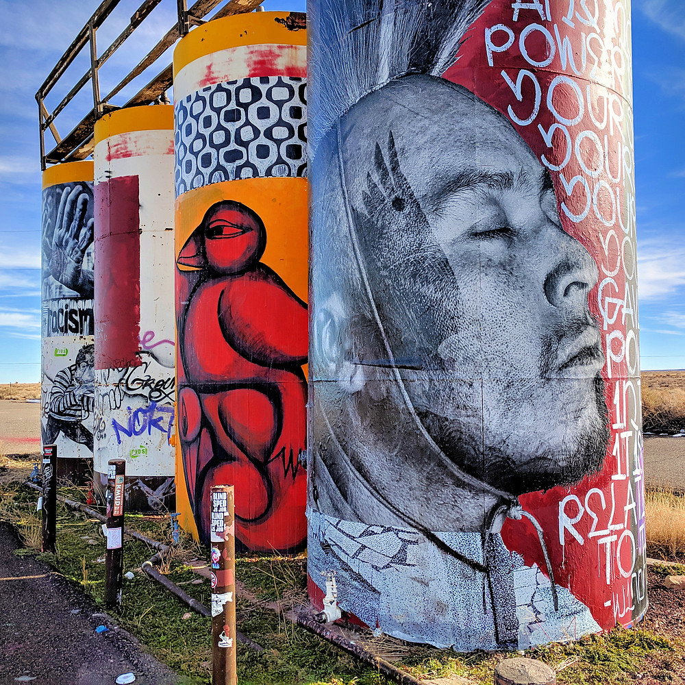 Street art on the Navajo Nation. The Painted Desert Project.