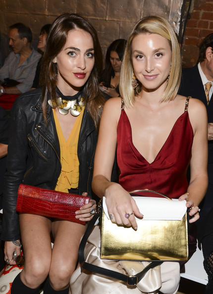 TV personalities Roxy Olin and Whitney Port attend the Jenny Packham fashion sho