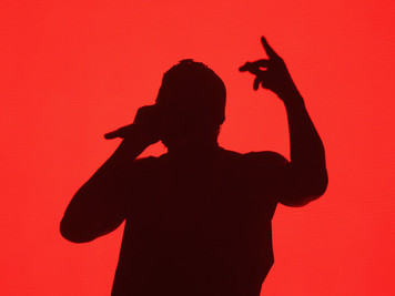 Kanye West performs live