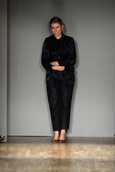 Designer Jenny Packham walks the runway at the Jenny Packham fashion show.jpg