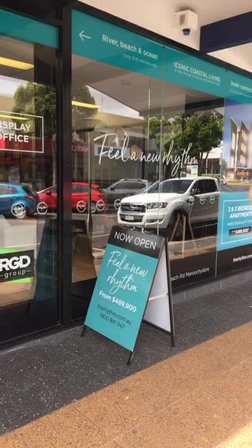 The brand new Rhythm on Beach sales office is now open at Ocean Street Maroochydore, come by and feel the rhythm!