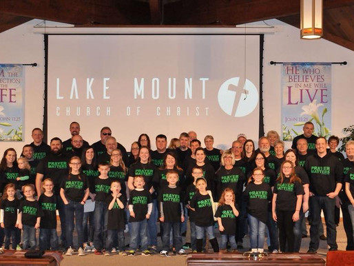 Lake Mount Church of Christ members in Rogers, Ohio received their shirts! 💚🙏🏻#PrayerMatters