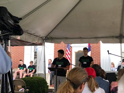Great to have our WB students asked to be a part of Salem's National Day of Prayer 🙏🏻 💚