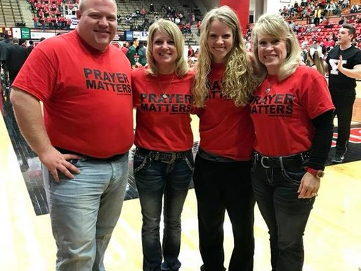 #PrayerMatters at the Youngstown State Women's Basketball game!