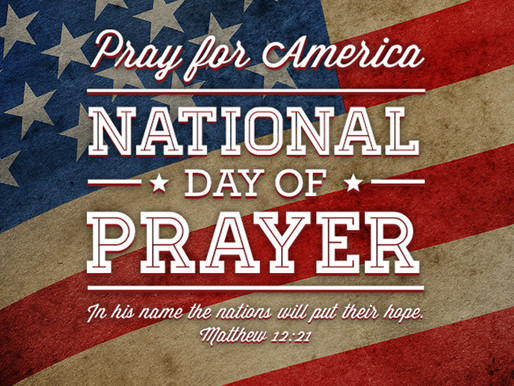 May 6th is National Day of Prayer.