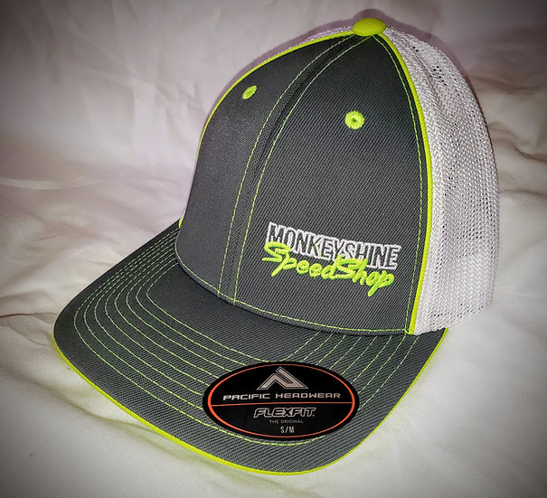 Fitted - Grey with chartreuse