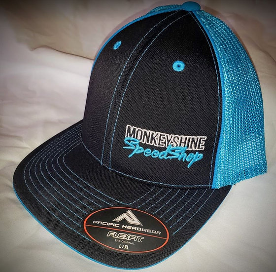 Fitted - Electric blue and black