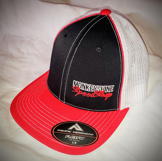 Fitted - Black with red bill and white back