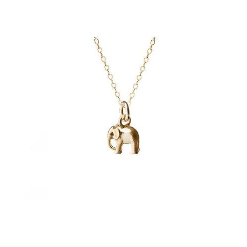 Mini Elephant Necklace Gold