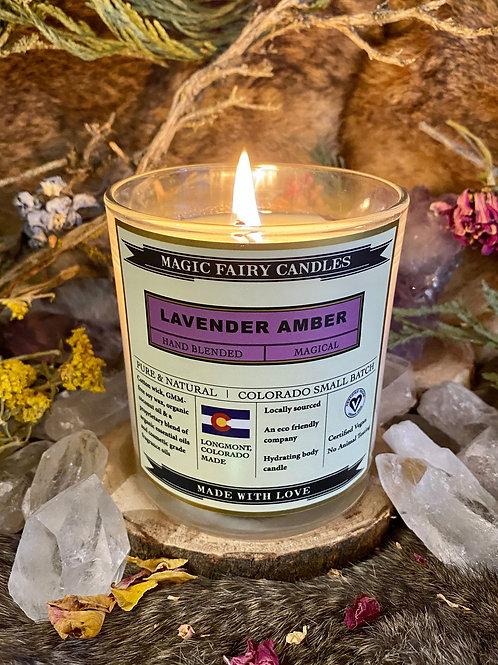 Lavender Amber 8.5oz Candles