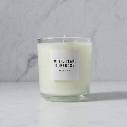 Makana White Pearl Tuberose Classic Candle