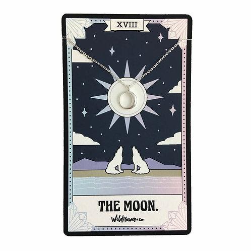 Tarot Card Necklace - Moon
