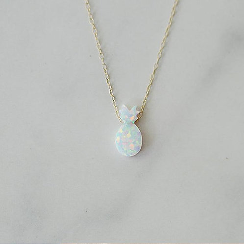 Opal Pineapple Necklace Gold