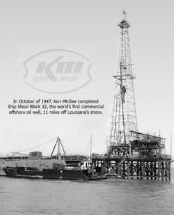 Kerr-McGee First Offshore Rig 1947