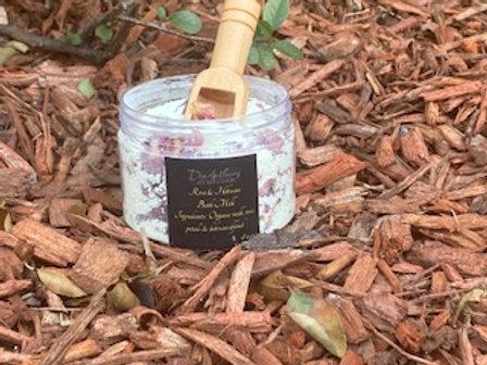 Rose Hibiscus Bath Milk w/mini wooden scooper