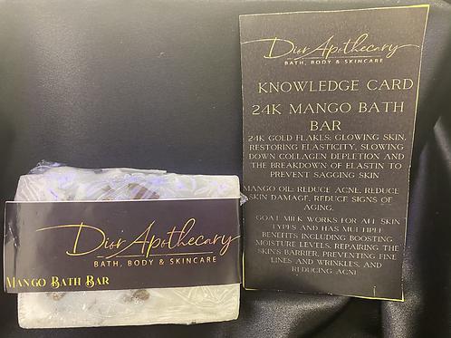 24 K Unisex Mango Bath Bar