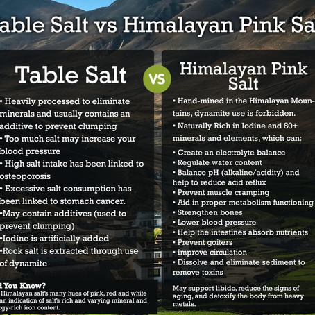 Table Salt vs Himalayan Salt