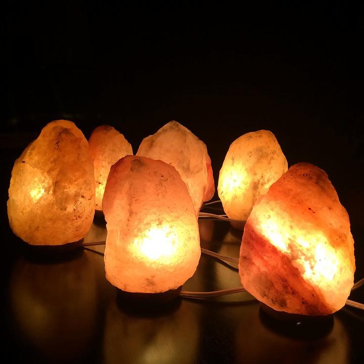 Himalayan pink natural salt lamps