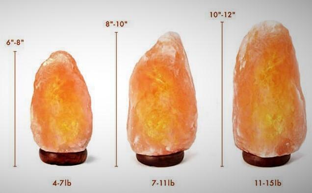 Himalayan Pink Salt lamp sizes