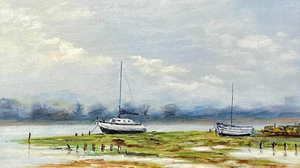 THE ESTUARY Original Oil Artist Monty