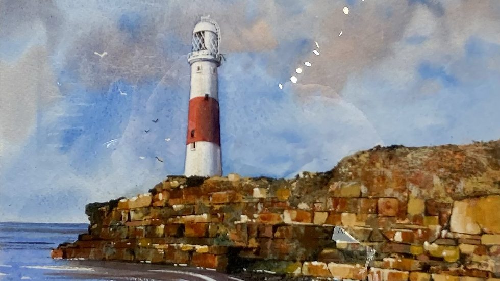PORTLAND LIGHTHOUSE Original Watercolour Artist: Bob Bradshaw