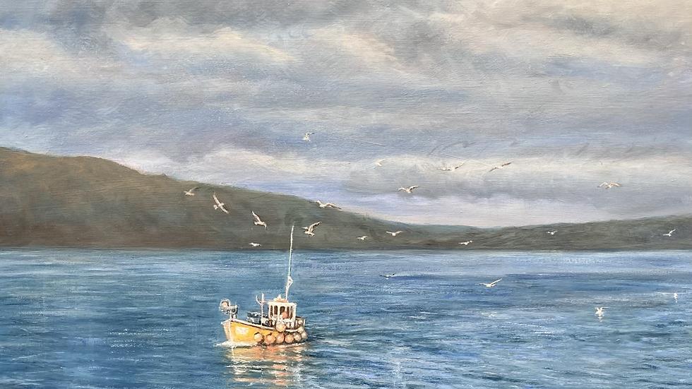 ANTELMA Original Acrylic on Canvas Artist SUE LEWIN