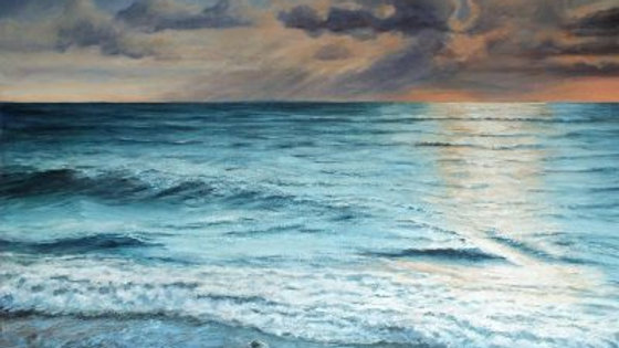 WAVELENGTH Original Acrylic  Artist Sue Lewin