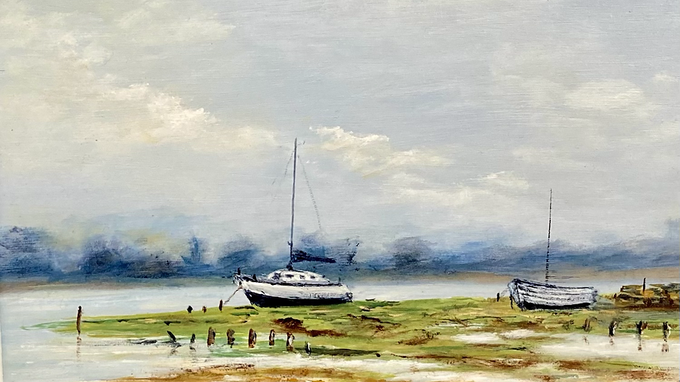 HIGH AND DRY Original Oil Artist Monty