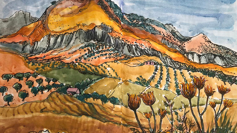 Vibrant Landscape in the Madonie Mountains, Sicily Artist: Alan Cotton